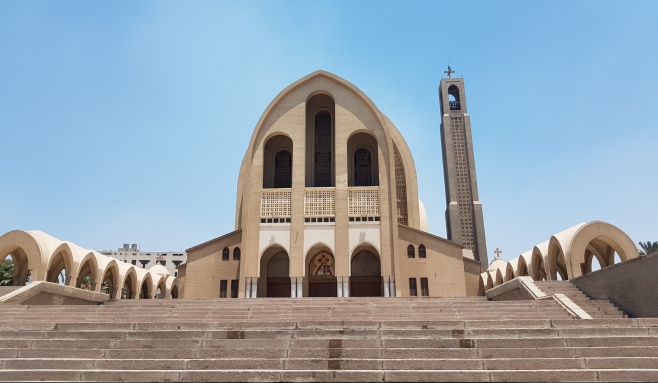 St. Peter's Cathedral in Coptic Orthodox Patriarchate, Abassya Cairo, summer 2016 (1)
