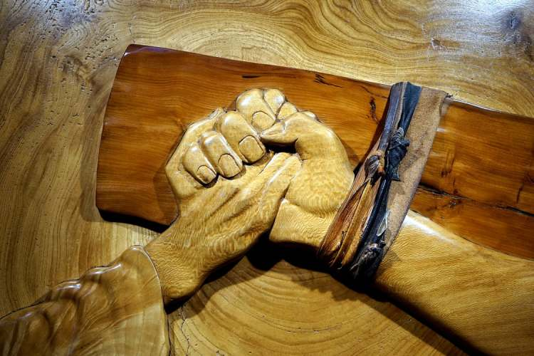 Holding Christ's Hand